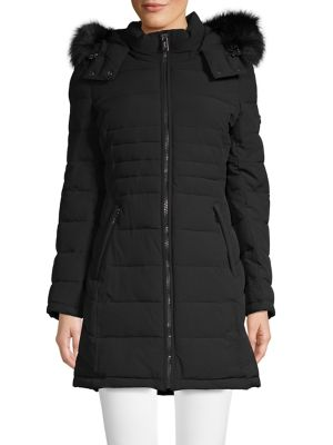 ddbc4a9df55 QUICK VIEW. Calvin Klein. Faux-Fur Puffer Jacket.  380.00 Now  190.00 · Faux  Fur-Trimmed Hooded Parka BLACK