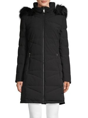 Calvin Klein Faux-Fur Puffer Jacket