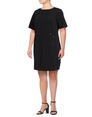 2044faf0a33 QUICK VIEW. Calvin Klein. Plus Ponte Shift Dress