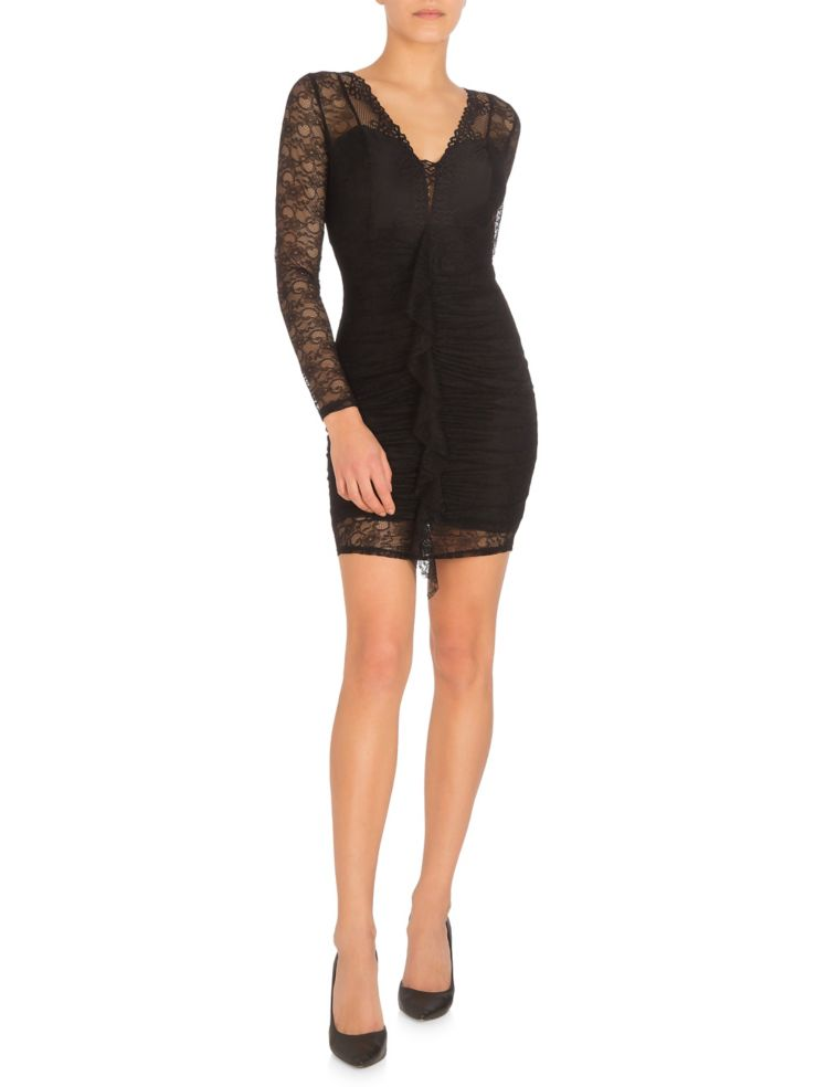 1bec143902ee GUESS - Taila Netted Lace Mini Bodycon Dress - thebay.com
