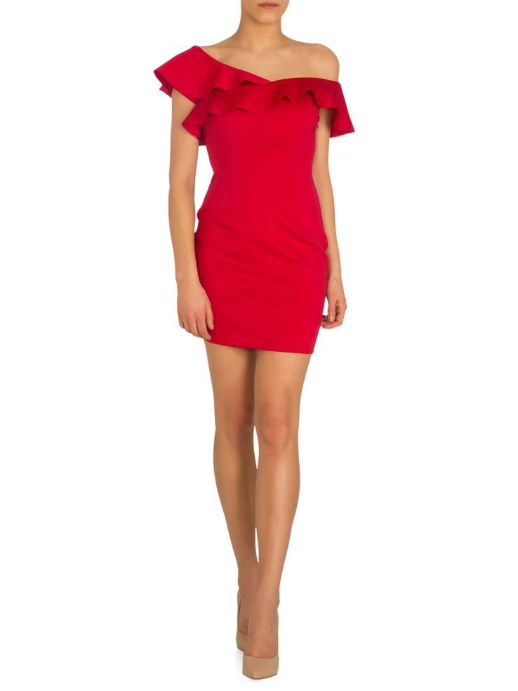 cb8ec5ecb67 GUESS - Farrah Off-the-Shoulder Ruffle Mini Dress - thebay.com