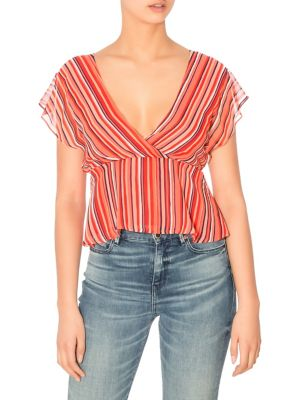 537050a6e1bb62 GUESS. Shanna Floral-Print Duster. $118.00 · Marrah Striped Cropped Top  BRIGHT ORANGE. QUICK VIEW. Product image