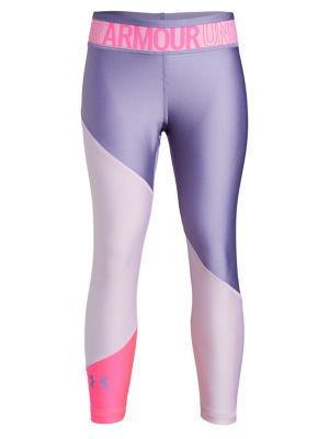 ff8b9c82cae73 QUICK VIEW. Under Armour. Girl's Heatgear Printed Cropped Leggings