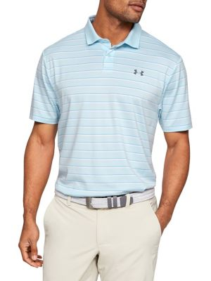 c5e16acea850 Golf Textured Striped Performance Polo CODED BLUE. QUICK VIEW. Product image