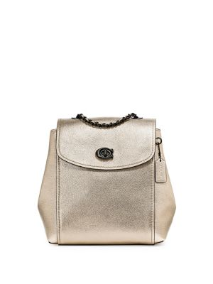 d9c3e0eeee36 QUICK VIEW. Coach. Parker Metallic Leather Backpack