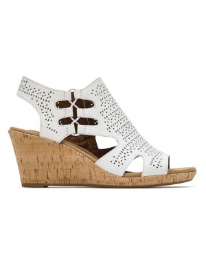 e2188f67a95b QUICK VIEW. Rockport Cobb Hill. Janna Perforated Leather Wedge Sandals