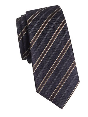 280d14b5ed79 Striped Silk-Blend Tie NAVY. QUICK VIEW. Product image