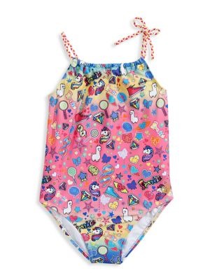 5f8e1450d Product image. QUICK VIEW. Skechers. Girl's One-Piece Printed Braided-Strap  Swimsuit