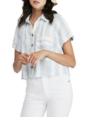 041d2e9aae6 QUICK VIEW. Free People. Away At Sea Striped Button-Down Shirt