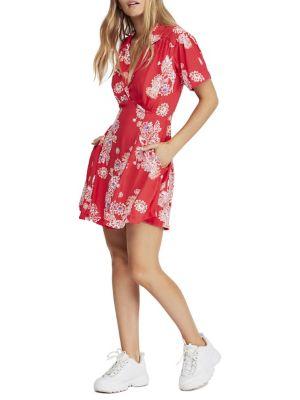 QUICK VIEW. Free People. Hawaii Floral Mini Fit   Flare Dress b961efe90