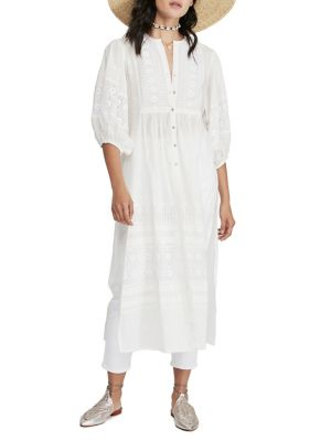 Ivory Maxi Dress with Sleeves