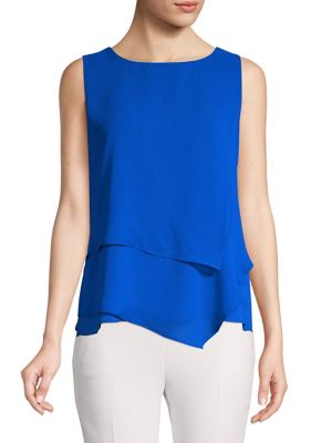 2b523450791037 Product image. QUICK VIEW. Calvin Klein. Layered Sleeveless Top. $79.00