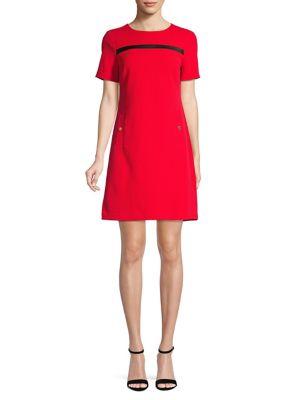 08f53a27dd6d25 Product image. QUICK VIEW. Calvin Klein. Short Sleeve Sheath Dress
