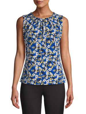 a3508ec513ca0 QUICK VIEW. Calvin Klein. Floral-Print Sleeveless Top