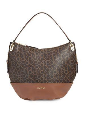 87bebffda1cc Product image. QUICK VIEW. Calvin Klein. Logo Leather Hobo Bag