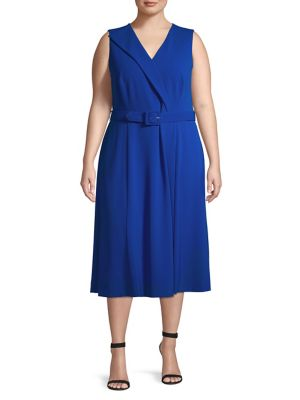 99da7ae928 QUICK VIEW. Calvin Klein. Surplice Belted Midi Dress