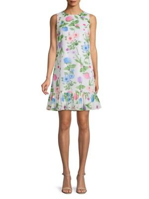 84b05a6993c Product image. QUICK VIEW. Calvin Klein. Floral Ruffled Shift Dress