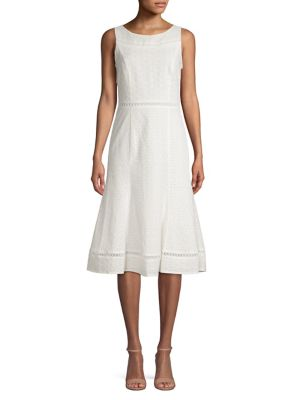 cb9be8ff923 Product image. QUICK VIEW. Calvin Klein. Cotton Midi Fit- -Flare Dress