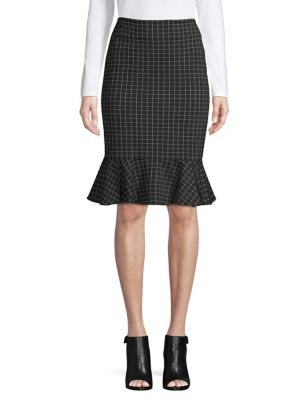 f8dace607fe QUICK VIEW. Calvin Klein. Windowpane Pencil Skirt