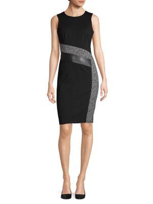 67ed2b73bec0e1 Product image. QUICK VIEW. Calvin Klein. Sleeveless Sheath Dress