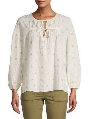 cb74321658ecf7 QUICK VIEW. Joie. Embroidered Pleated Blouse