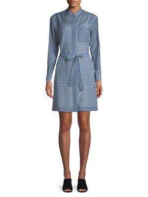 d4905625 Equipment. Long-Sleeve Button-Down Shirt. $300.00. designer · Printed  Cotton & Silk Blend Shirtdress TRUE BLUE. QUICK VIEW. Product image