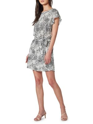 Joie Anthea Wild-Print Linen Mini Dress