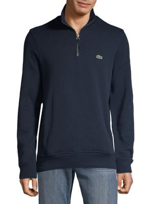 Half Zip Cotton Sweatshirt by Lacoste