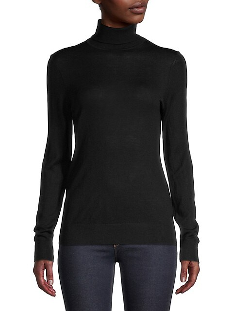 Lord & Taylor Merino Wool Turtleneck Top