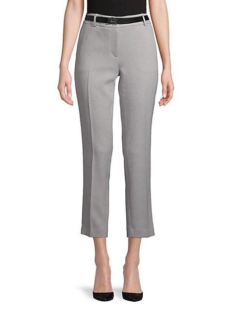 Calvin Klein Solid Straight-Leg Pant