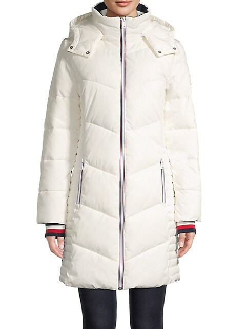 Hooded Long-Sleeve Puffer Jacket
