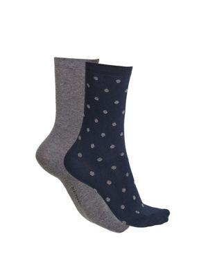 Women's 2 Pack Dotted Crew Socks