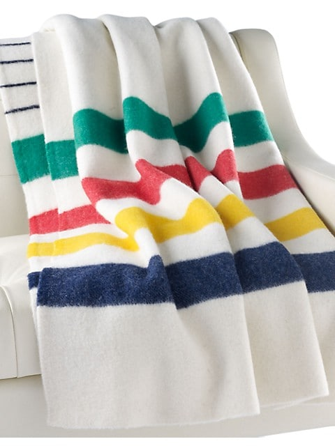 HBC Stripes Iconic Multistripe Point Blanket