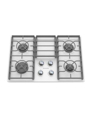 KGCC506RWW 30-inch Gas Cooktop with 17K BTU Professional Burner- White photo