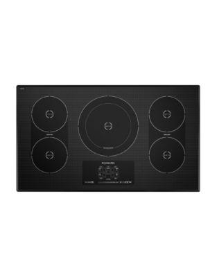 KICU569XBL 36-inch Electric Induction Cooktop with 12 Heat Level Settings- Black photo