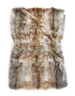 HBC Striped HBC x Caroline Furs Coyote Fur Throw