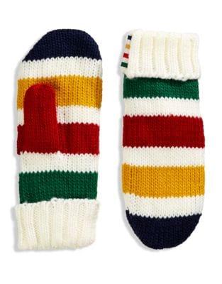 HBC Stripes Canadian Hudson/'s Bay Winter Hat and Mittens Set Infant 0-12 mths
