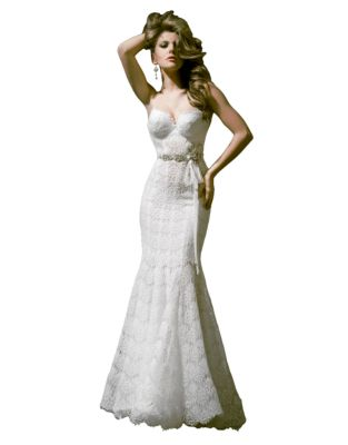 7d01acbd28ec7 Mermaid Low Back Lace Gown OFF WHITE. QUICK VIEW. Product image. QUICK  VIEW. Pnina Tornai