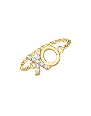 Mejuri 18k Yellow Gold Xo Chain Ring Thebay Com