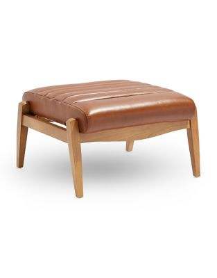 Amazing Hans Leather Rectangle Ottoman Ibusinesslaw Wood Chair Design Ideas Ibusinesslaworg