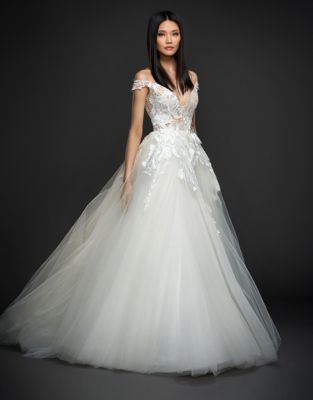 Lazaro Sparkle Tulle Ball Gown Thebay Com