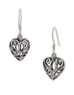 d828624d5 Celtic Heart Earrings SILVER. QUICK VIEW. Product image