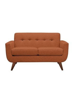 Distinctly Home Hudson II Loveseat with Track Arm and Tufted Back