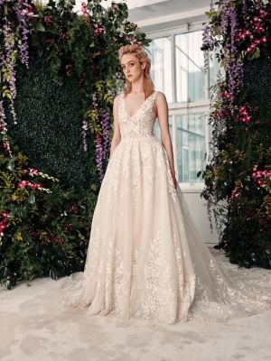 Rivini Avery Floral Lace Tulle Ball Gown Thebay Com