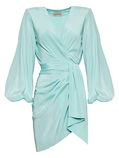 Alexandre Puff-Sleeve Wrap Dress
