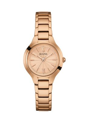 Bulova Classic Collection Rose Goldtone Stainless Steel Analog Watch