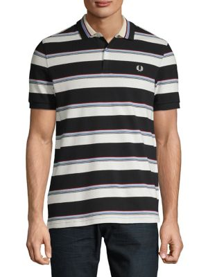 63cbf347 QUICK VIEW. Fred Perry. Stripe Cotton Polo