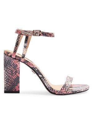 2bba601c87 Product image. QUICK VIEW. TOPSHOP. Snakeskin Print Block Heel Sandals