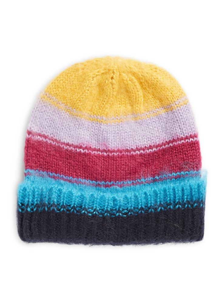 TOPSHOP - Brush Stripe Ombre Beanie - thebay.com 7e33c9b8efdd