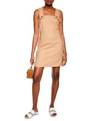 e80b453b82 QUICK VIEW. TOPSHOP. Mini Ruffle Pinafore Dress